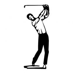 Escultura Golfista