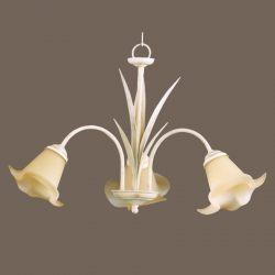 Lámpara 3 luces Flor Lis