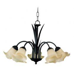 Lámpara 5 luces Flor Lis