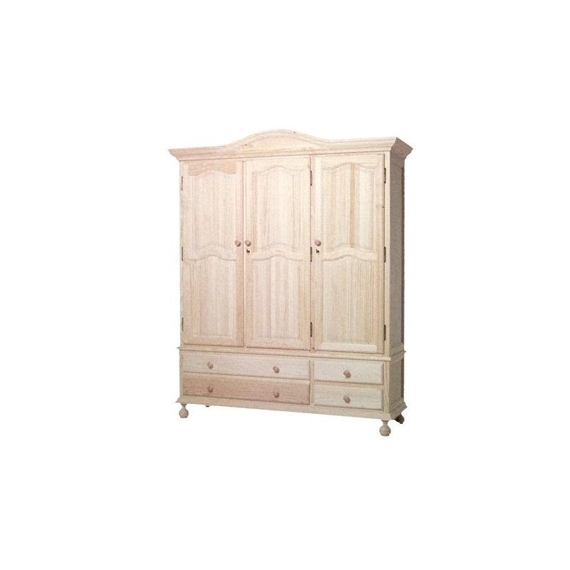 armoire solide de 3 portes 4 tiroirs. Black Bedroom Furniture Sets. Home Design Ideas