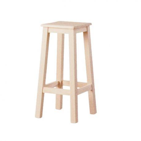 Taburete alto liso asiento madera for Bancos de madera ikea