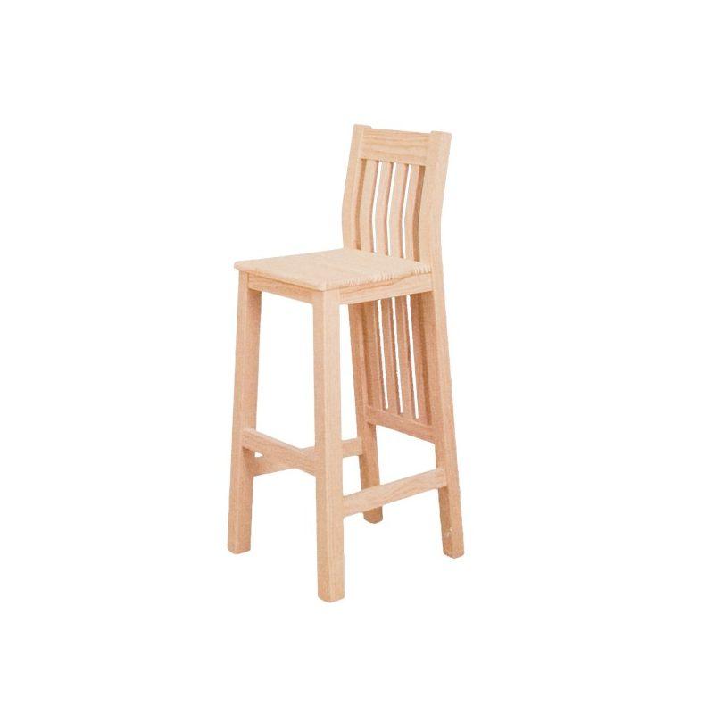 Taburete atenas asiento madera for Taburetes de madera rusticos